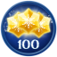 Obtain 100 Stars in Frozen Free Fall: Snowball Fight